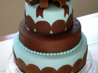 Brown-and-Blue-Baby-Shower-Cake