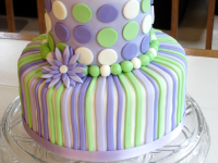 Purple-and-Green-Dots-Shower-Cake