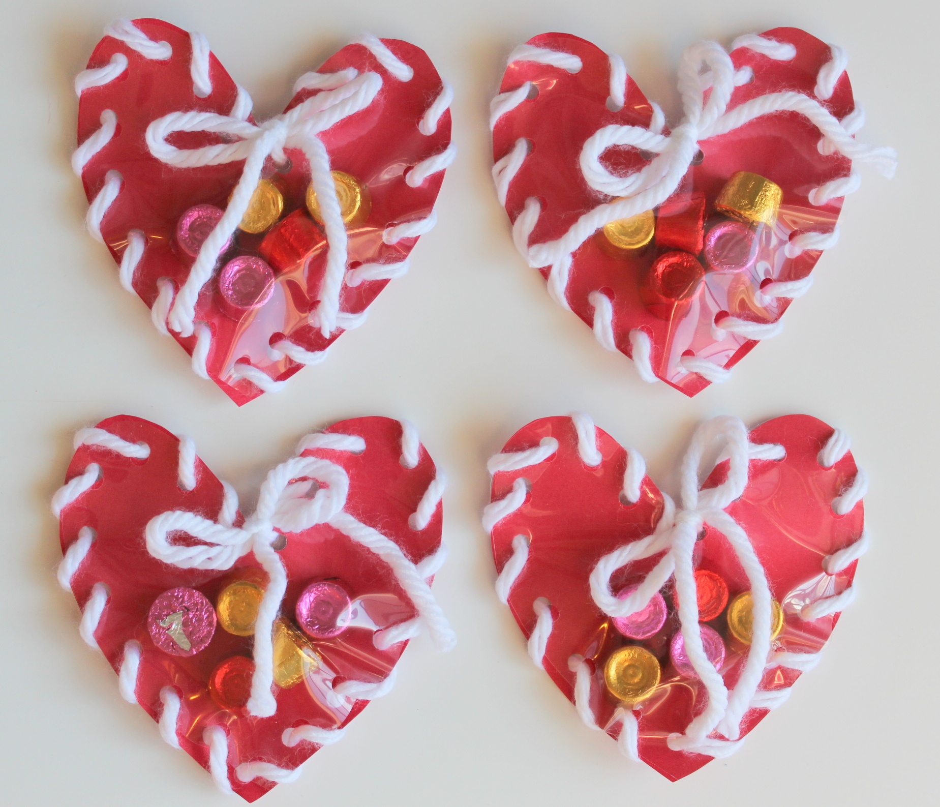 Lollydot Hand Sewn Paper Heart Valentine Craft For Kids Lollydot