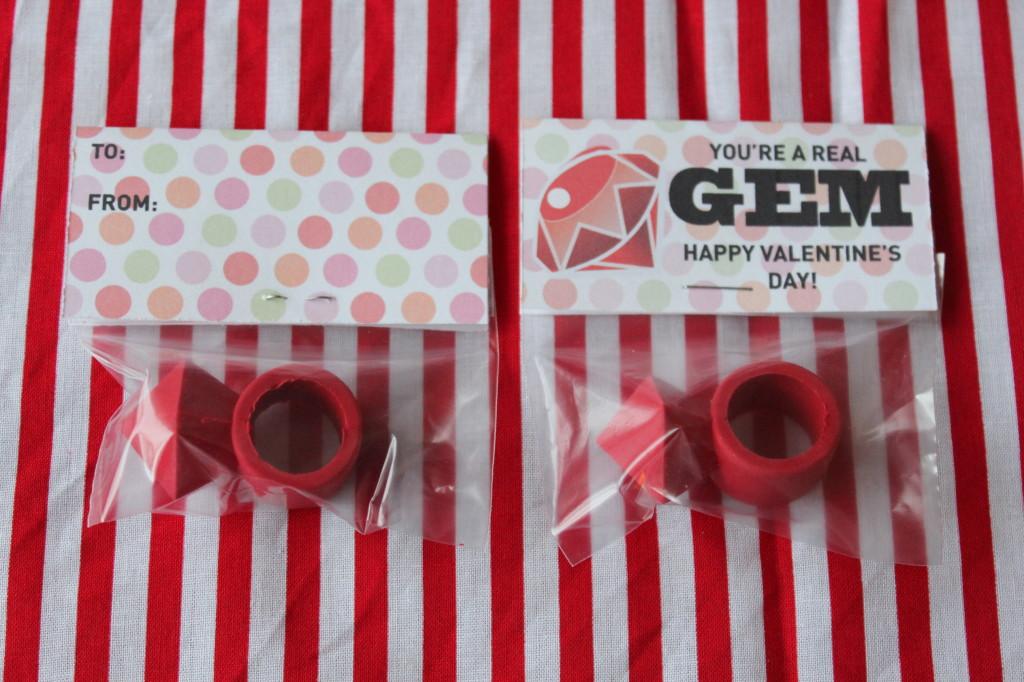 Real Gem Valentine Front and Back